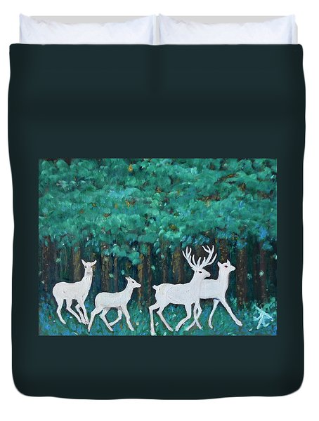 Holiday Season Dance Duvet Cover