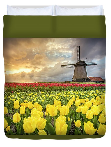 Holland Windmill Duvet Cover