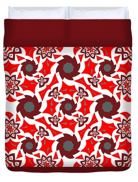 Holly Abstract Duvet Cover