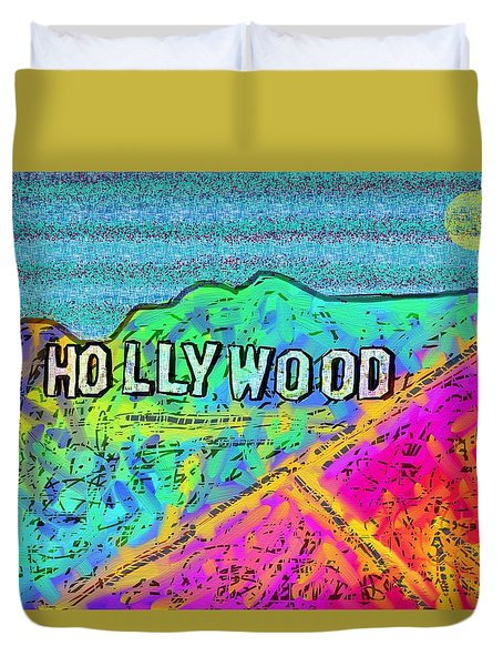 Hollycolorwood Duvet Cover by Jeremy Aiyadurai
