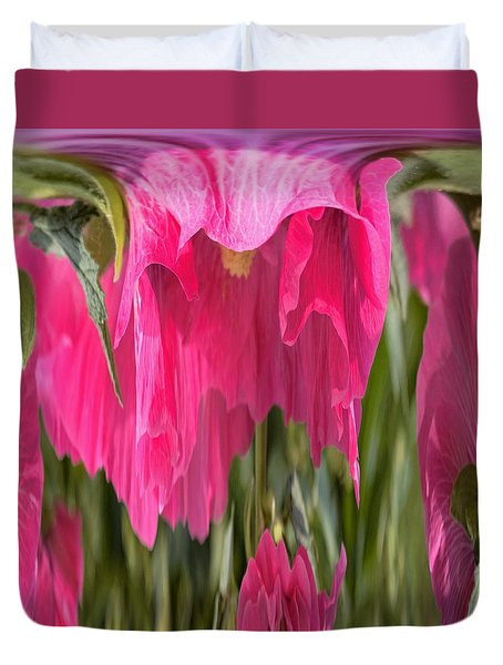 Hollyhock Drape Abstract Duvet Cover