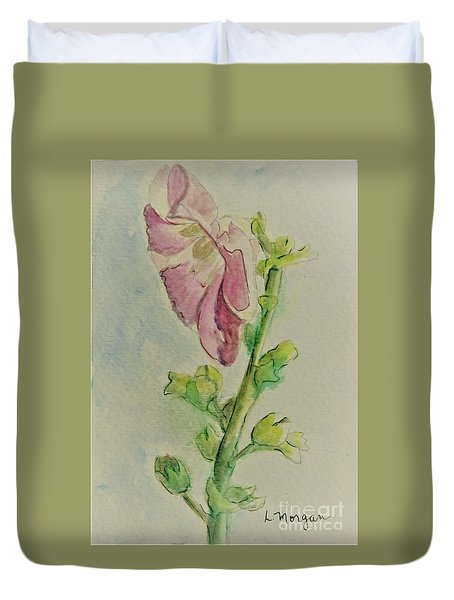 Hollyhock The Harbinger Of Summer Duvet Cover