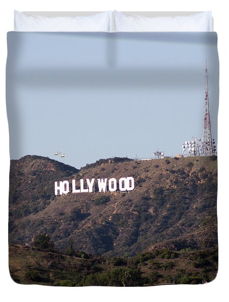 Hollywood And Helicopters Duvet Cover