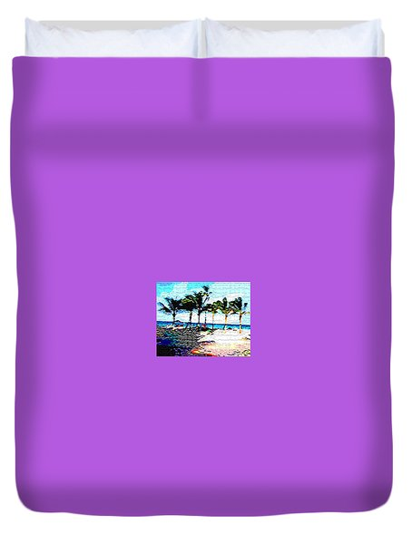 Duvet Cover featuring the photograph Hollywood Beach Fla Digital by Dick Sauer