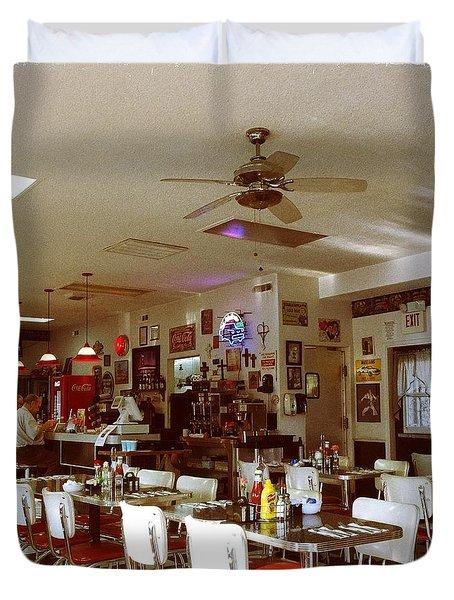 Hollywood Cafe Lodi California Duvet Cover