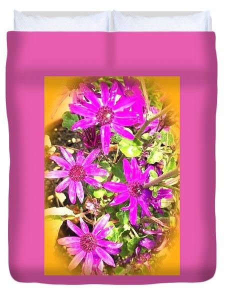 Hollywood Flower Stars Duvet Cover