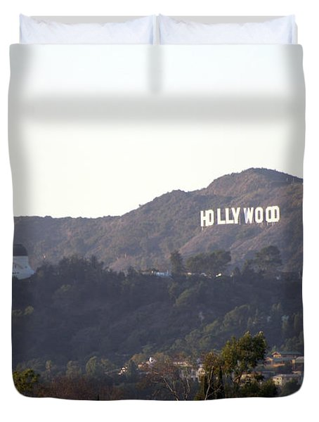 Hollywood Hills And Griffith Observatory Duvet Cover