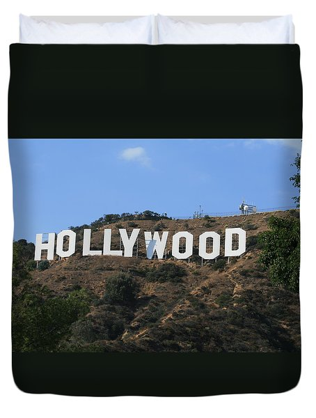Duvet Cover featuring the photograph Hollywood by Marna Edwards Flavell