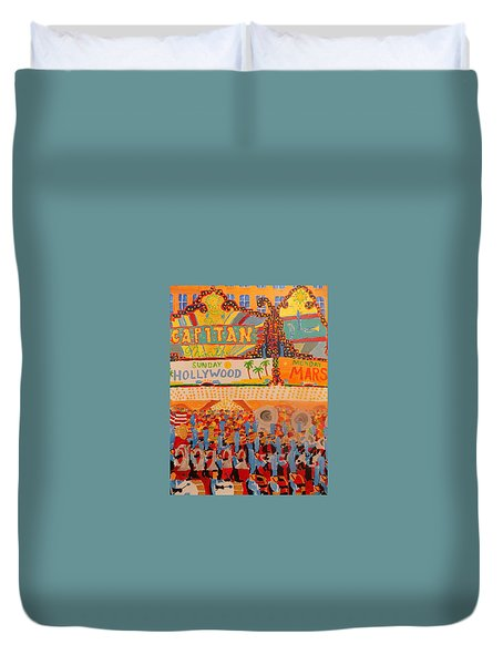 Hollywood Parade Duvet Cover by Rodger Ellingson