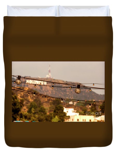 Duvet Cover featuring the photograph Hollywood Sign On The Hill 5 by Micah May