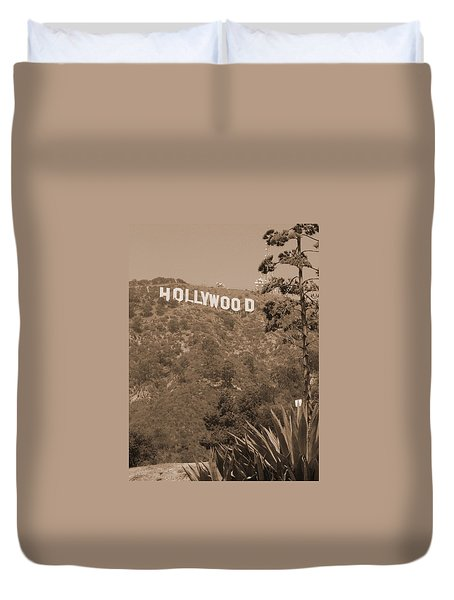 Hollywood Signage Duvet Cover