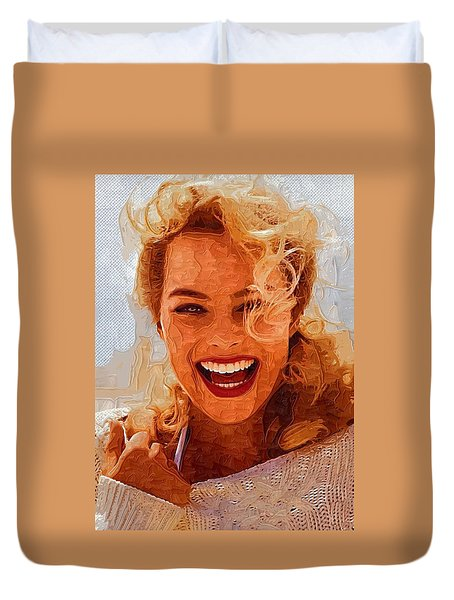 Hollywood Star Margot Robbie Duvet Cover by Best Actors