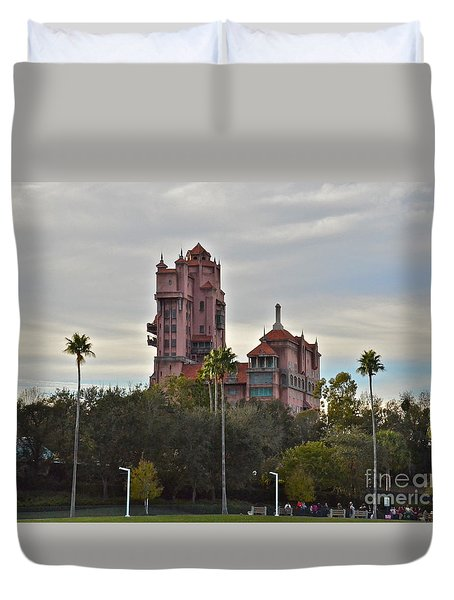 Hollywood Studios Tower Of Terror Duvet Cover