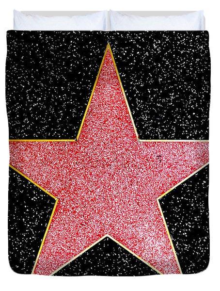 Hollywood Walk Of Fame Star Duvet Cover