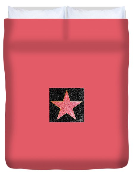 Hollywood Walk Of Fame Star Duvet Cover