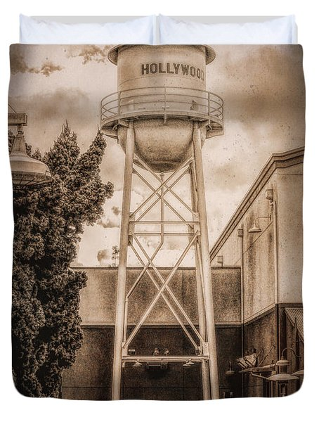 Hollywood Water Tower 2 Duvet Cover