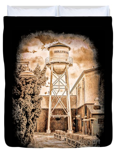 Hollywood Water Tower Duvet Cover