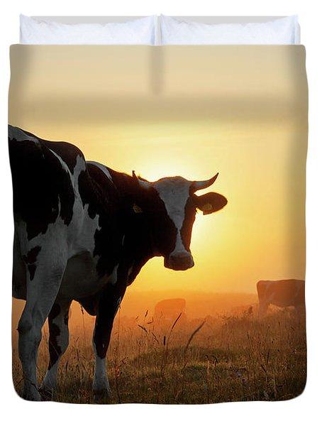 Holstein Friesian Cow Duvet Cover