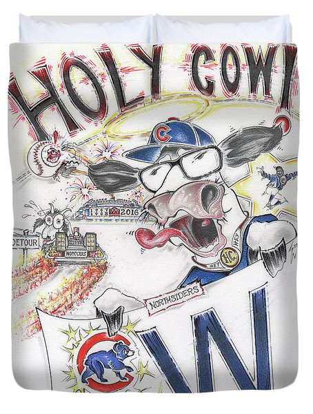 Holy Cow  Duvet Cover by Scott and Dixie Wiley