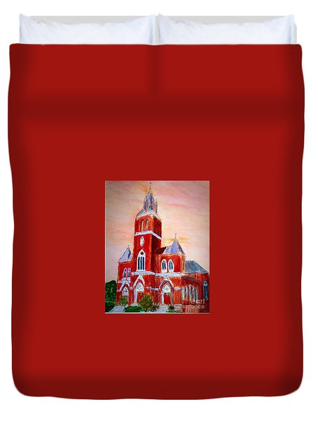 Holy Family Church Duvet Cover