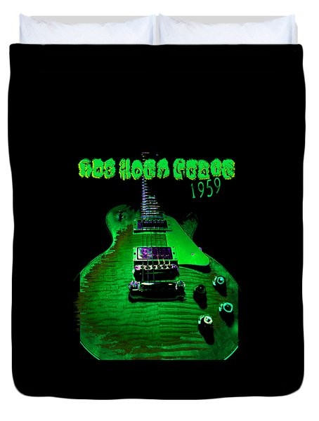 Duvet Cover featuring the photograph Holy Grail 1959 Retro Relic Guitar by Guitar Wacky