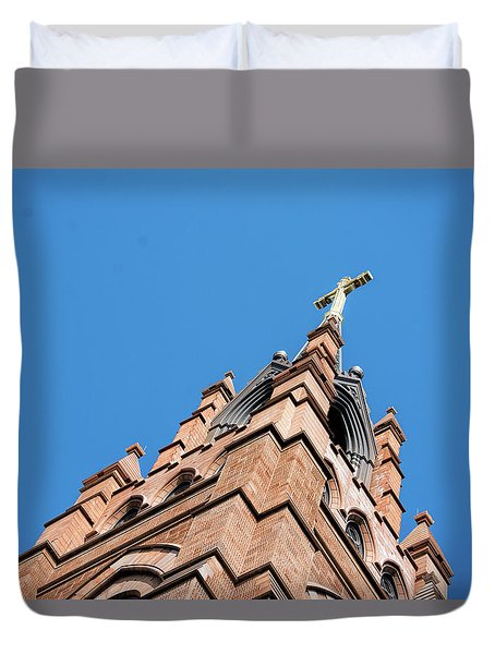 Huguenot Church Duvet Cover