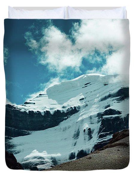 Holy Kailas West Himalayas Tibet Yantra.lv Duvet Cover