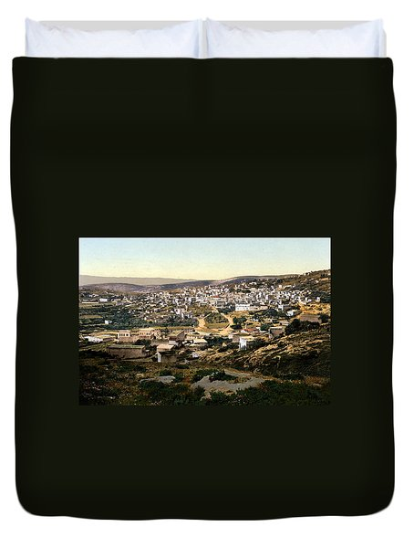 Holy Land - Nazareth Duvet Cover by Munir Alawi