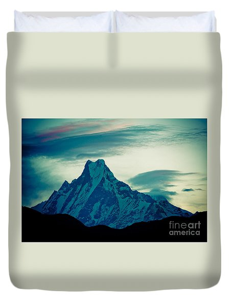 Holy Mount Fish Tail Machhapuchare 6998m Duvet Cover