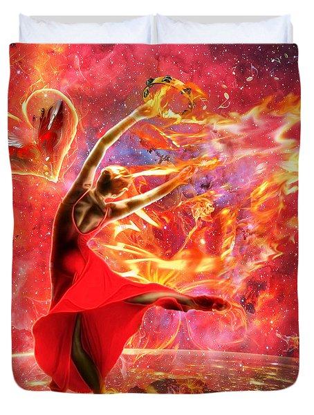 Holy Spirit Fire Duvet Cover