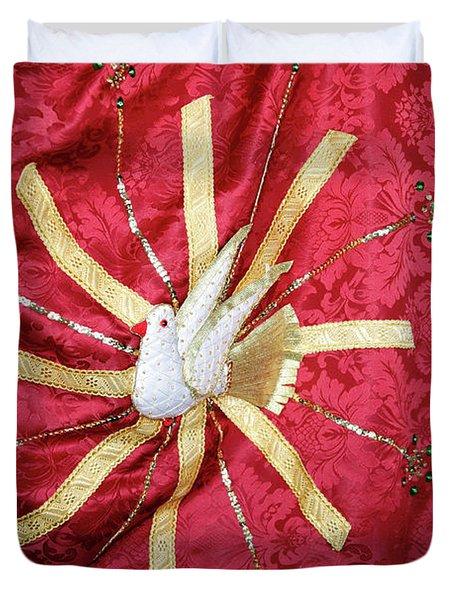 Holy Spirit Flag Duvet Cover by Gaspar Avila