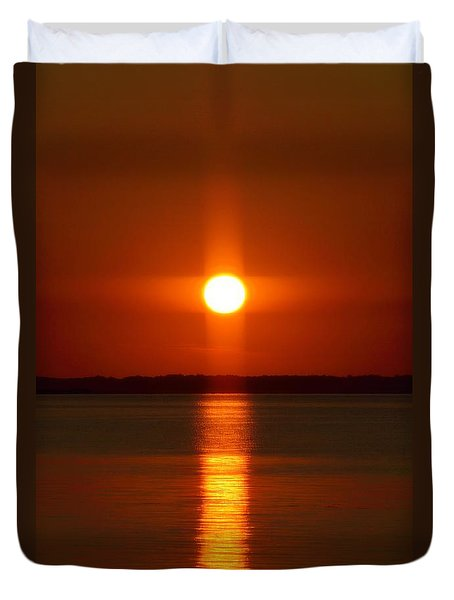 Holy Sunset - Portrait Duvet Cover by William Bartholomew