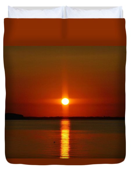 Holy Sunset Duvet Cover by William Bartholomew