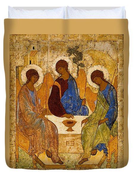 Holy Trinity. Troitsa Duvet Cover