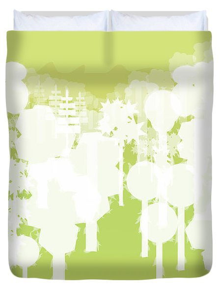 Duvet Cover featuring the digital art Holy Vale by Kevin McLaughlin
