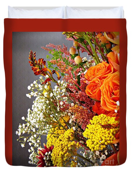 Duvet Cover featuring the photograph Holy Week Flowers 2017 2 by Sarah Loft