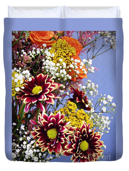 Duvet Cover featuring the photograph Holy Week Flowers 2017 4 by Sarah Loft