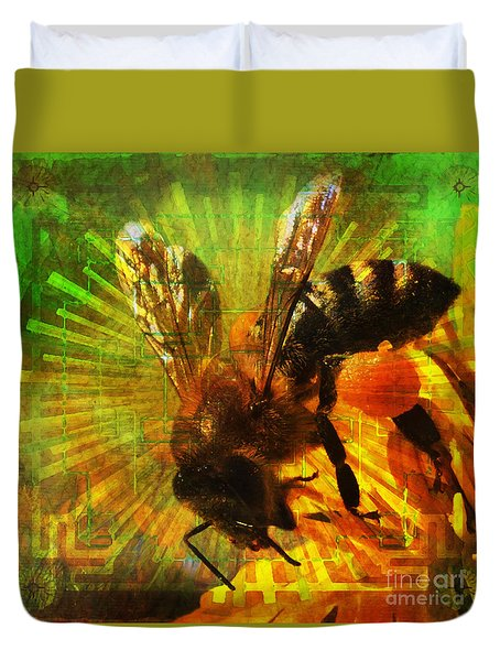 Homage To A Bee 2015 Duvet Cover
