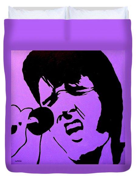 Homage To Elvis Duvet Cover by John  Nolan