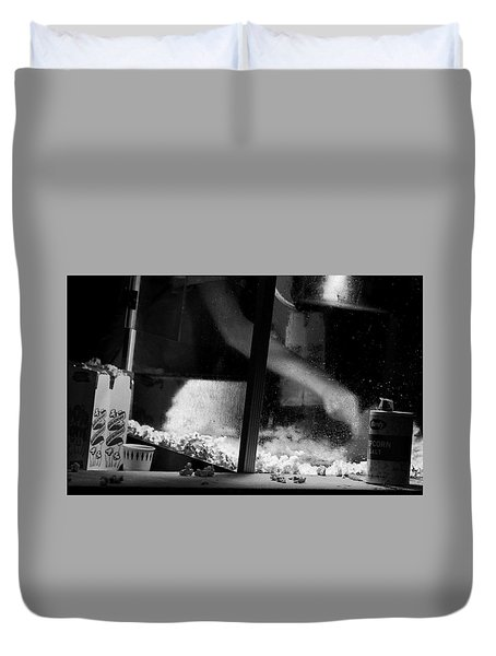 Homage To Movie Popcorn Duvet Cover