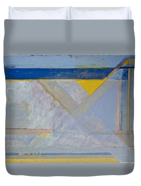 Duvet Cover featuring the painting Homage To Richard Diebenkorn's Ocean Park Series  by Cliff Spohn