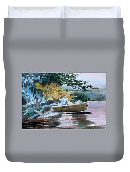 Homage To Winslow Homer Duvet Cover by Mindy Newman