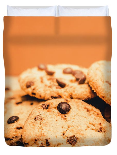 Home Baked Chocolate Biscuits Duvet Cover
