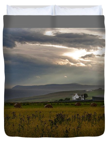 Home By The Sea Scotland Duvet Cover by Sally Ross