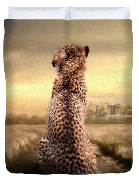 Duvet Cover featuring the photograph Home by Christine Sponchia