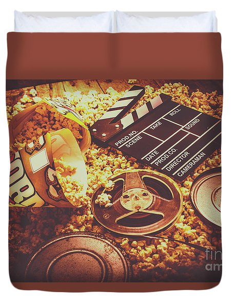 Home Cinema Art Duvet Cover