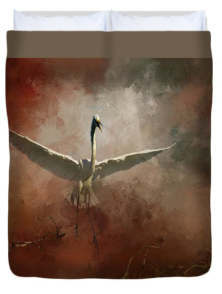 Duvet Cover featuring the photograph Home Coming by Marvin Spates