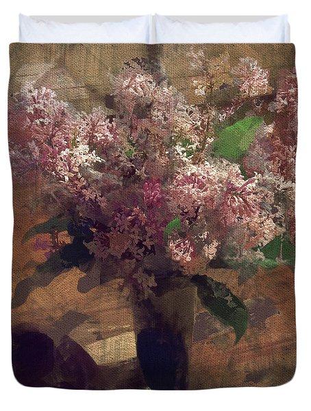 Home Flowers Duvet Cover