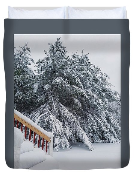 Home For The Blizzard Duvet Cover
