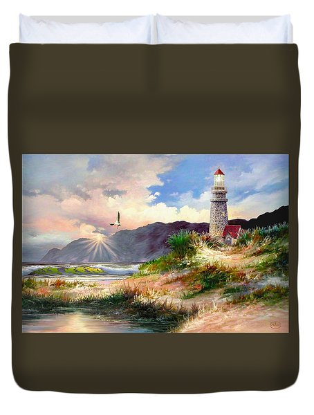 Home For The Night Duvet Cover by Ron Chambers